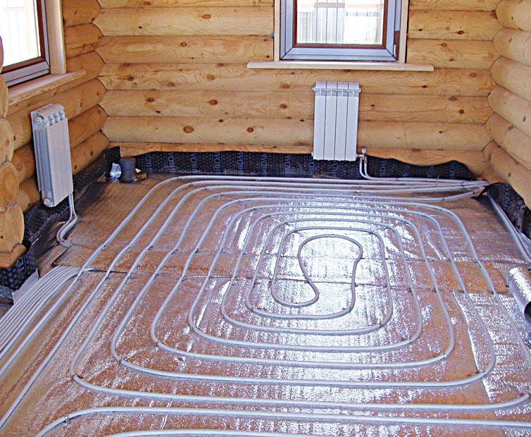 Напольное отопление дома